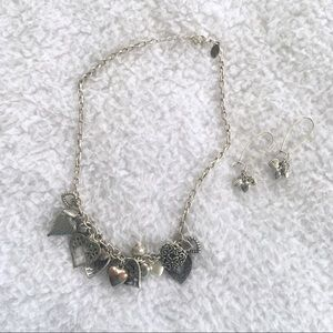 3/$10 American Eagle Heart Necklace and Earrings